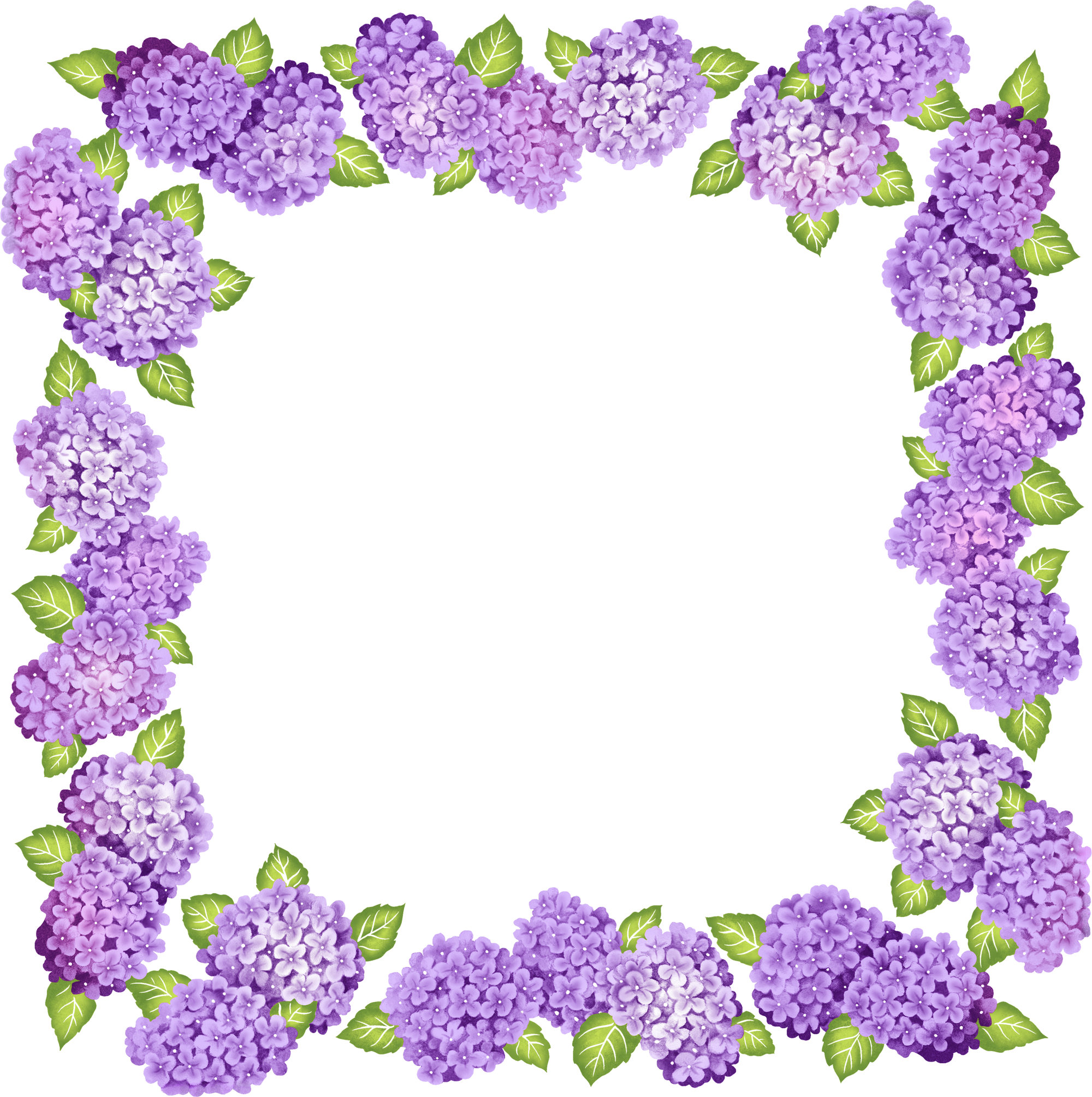 Free flower frame clipart image free library Cute Transparent Purple Flowers Frame | Gallery Yopriceville - High ... image free library