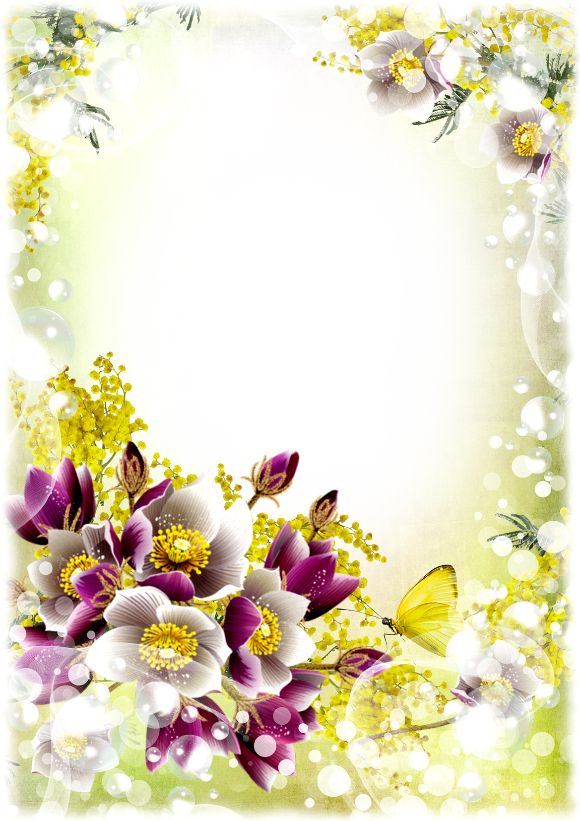 Free flower photo download royalty free stock Flower frame png - psd, vector Free Download royalty free stock