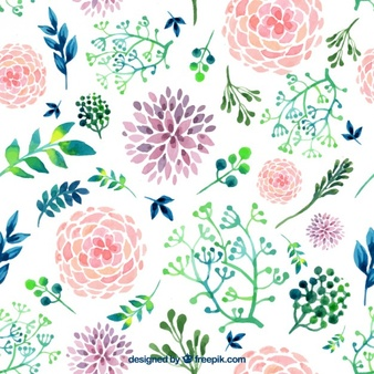 Free flower jpg png freeuse stock Watercolor Flowers Vectors, Photos and PSD files | Free Download png freeuse stock