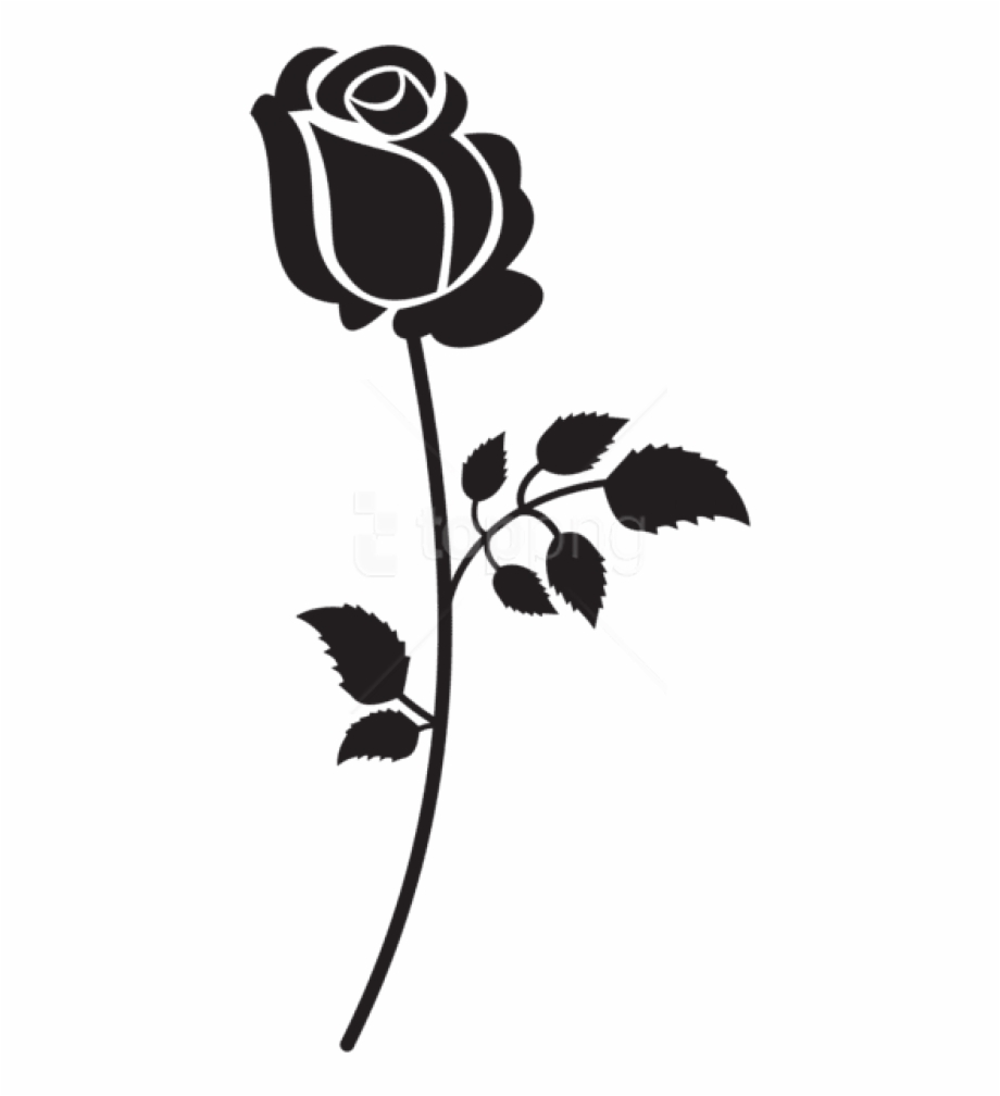 Free flower silhouette clipart. Flowers png black rose