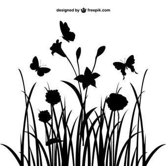 Free flower silhouette clipart. Vector vectors photos and