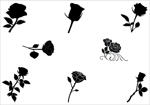 Images download clip art. Free flower silhouette clipart
