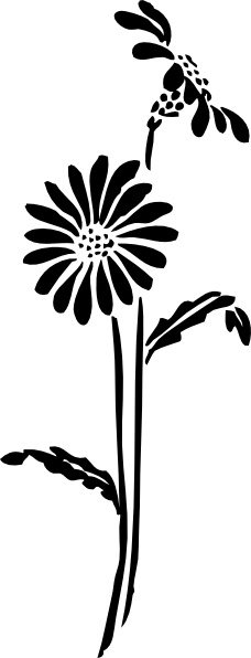 Flowers clip art vector. Free flower silhouette clipart