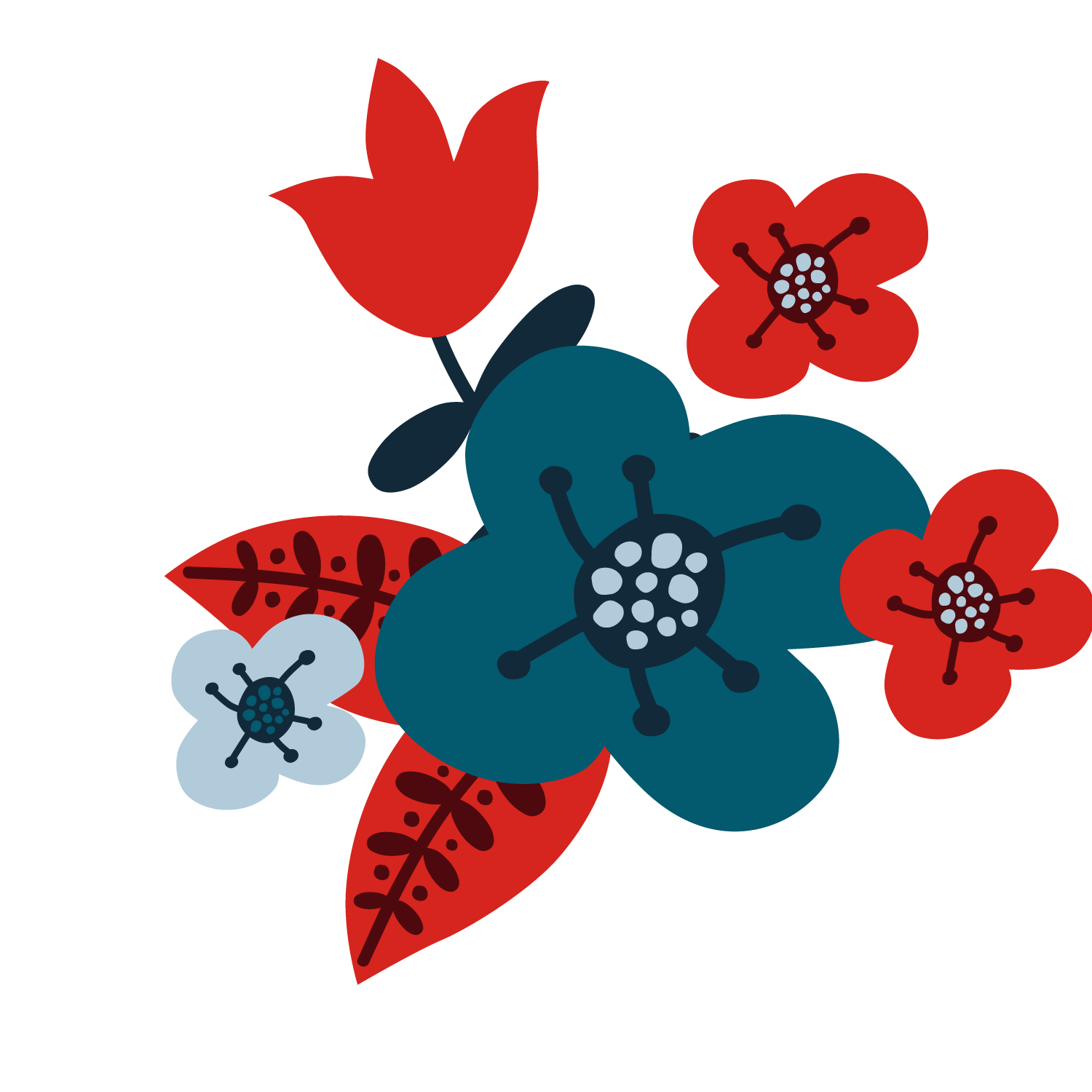 Free flower vector clipart graphic Flower Christmas - Red flower vector 1500*1500 transprent Png Free ... graphic