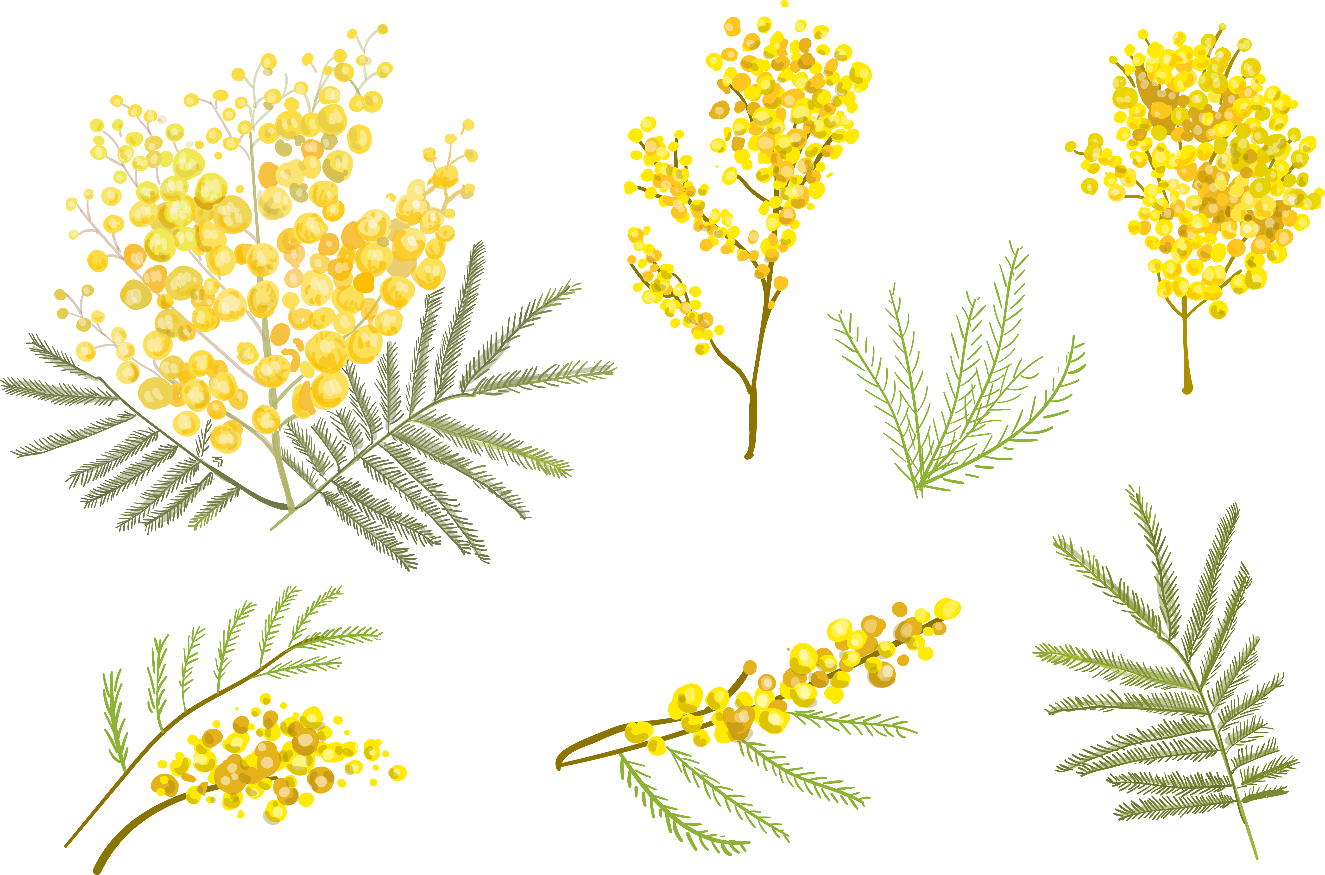 Free flower vector clipart banner black and white Flower Euclidean vector Clip art - Small yellow flower vector 5510 ... banner black and white