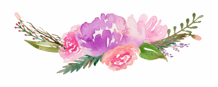 Free floral watercolor clipart png freeuse stock Royalty Free Flowers Watercolor Painting Clip Art Along ... png freeuse stock