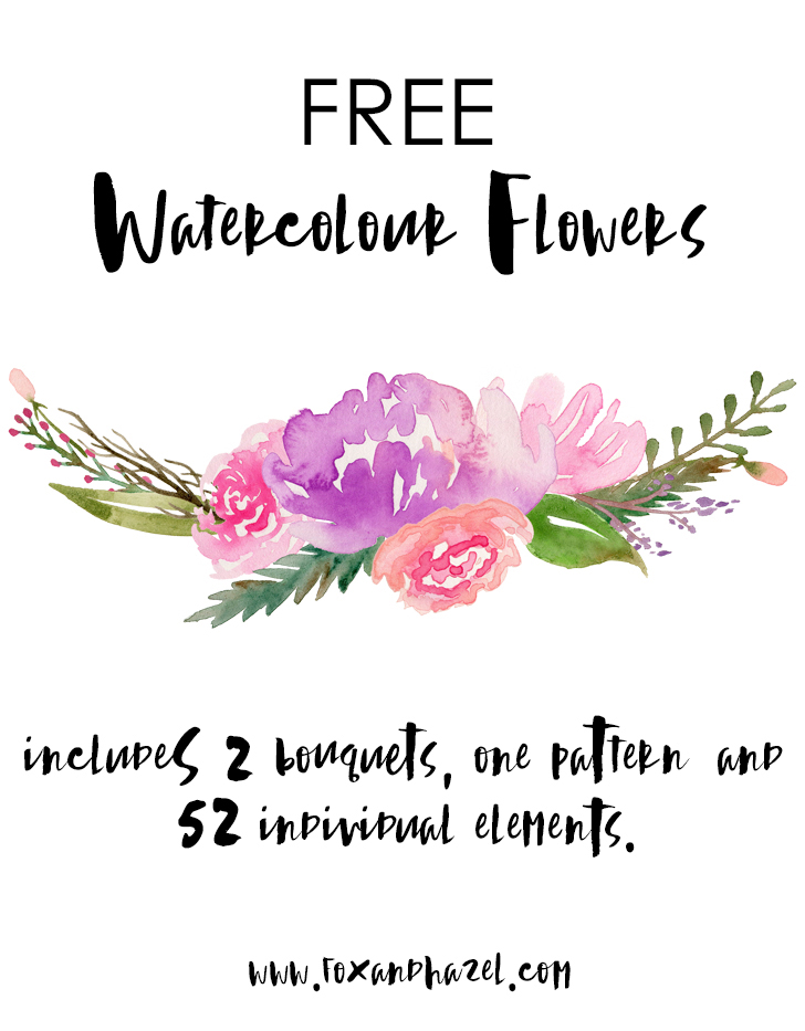 Free flowers graphics graphic black and white download Free Watercolour Flower Graphics! graphic black and white download