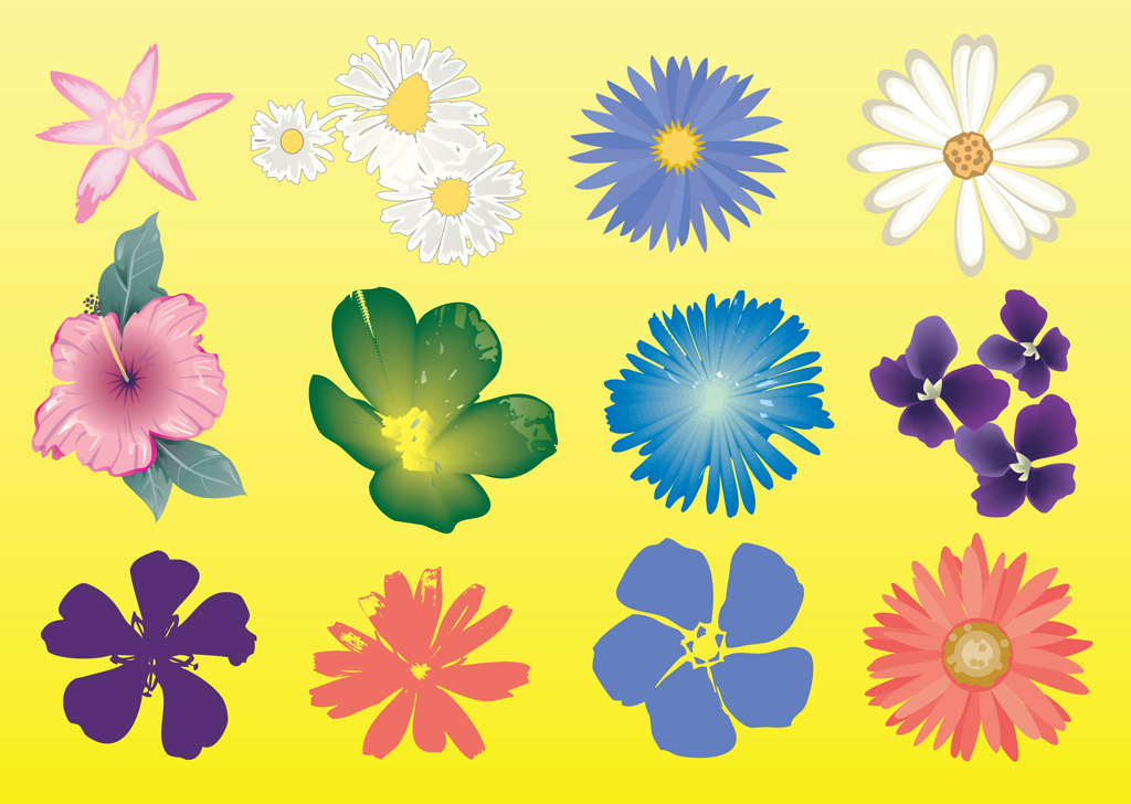 Free flowers graphics free library Free Flowers Vector Graphics | free vectors | UI Download free library