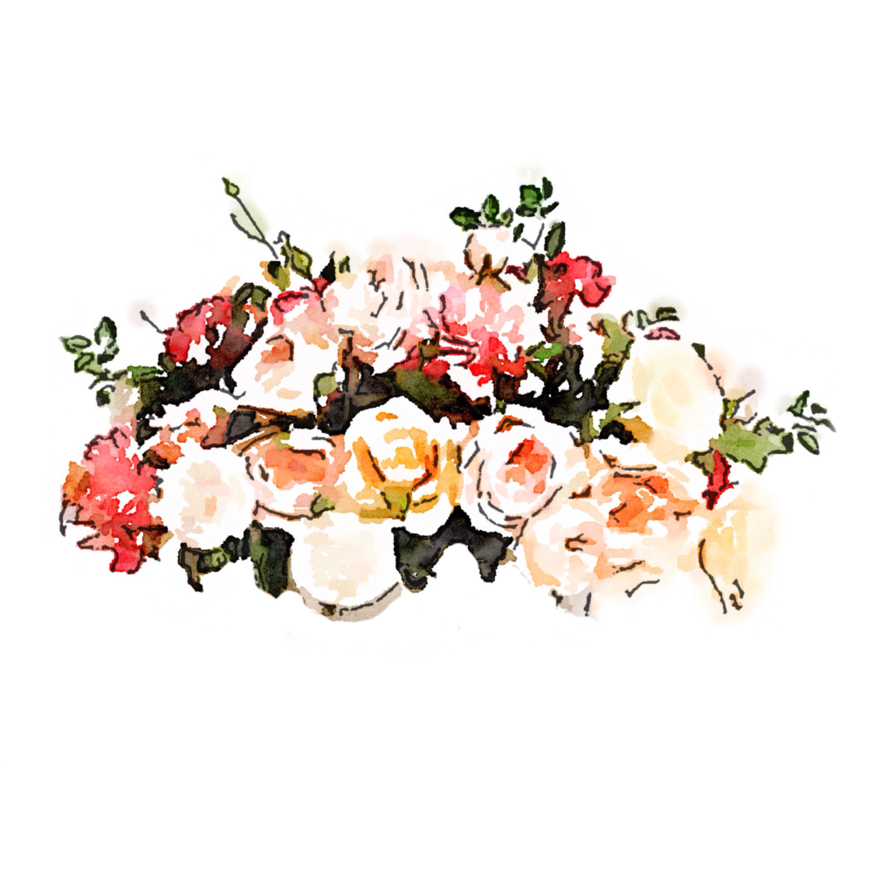 Free flowers photos banner transparent library FREE-USEfreely-flowers-watercolor-pink-peach-red by anjelakbm on ... banner transparent library