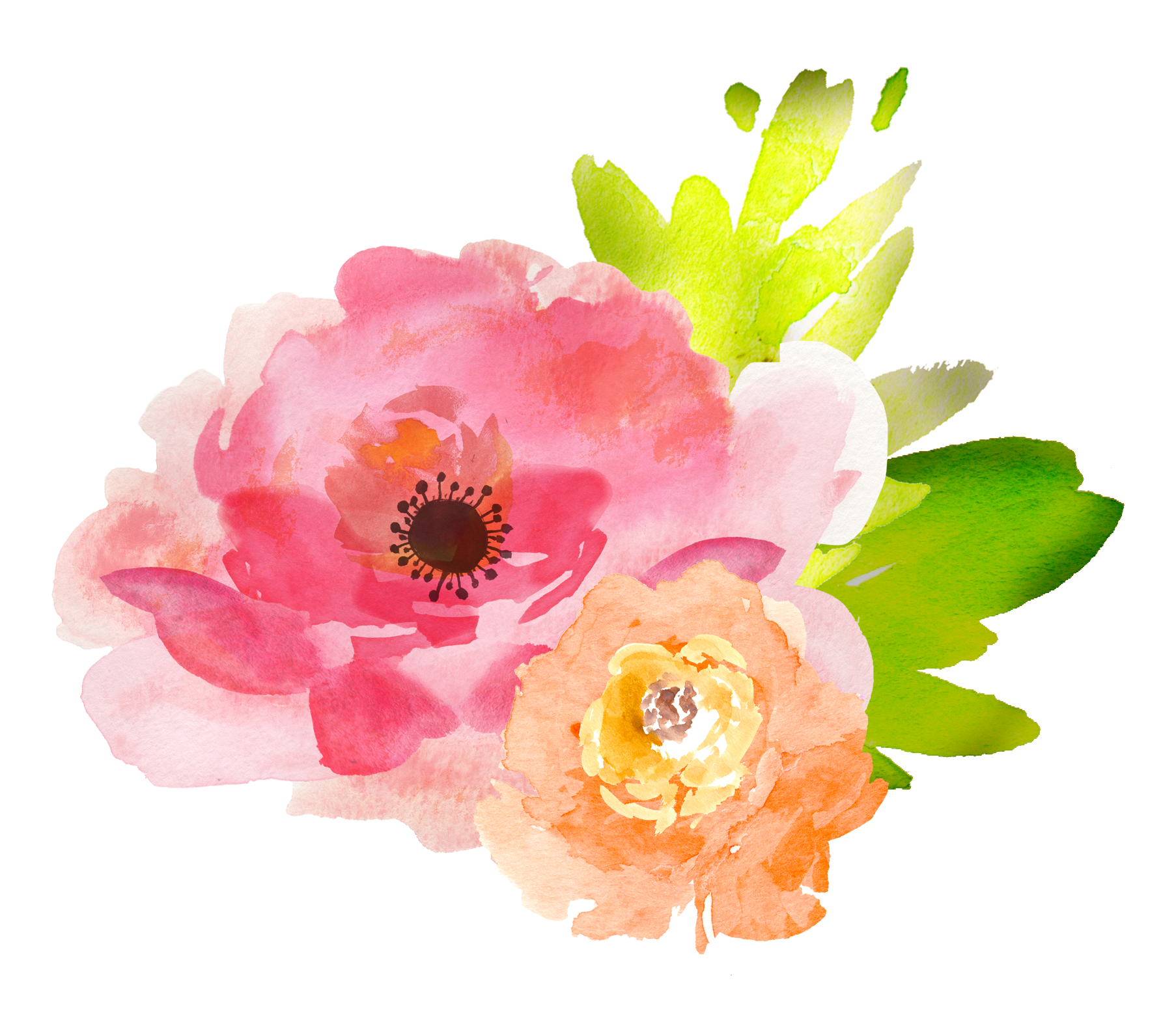 Free picture of flowers vector freeuse Free Watercolor Floral Elements- Pretty! - Free Pretty Things For You vector freeuse