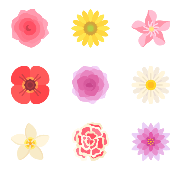 Flower icon clipart. Icons free vector flowers