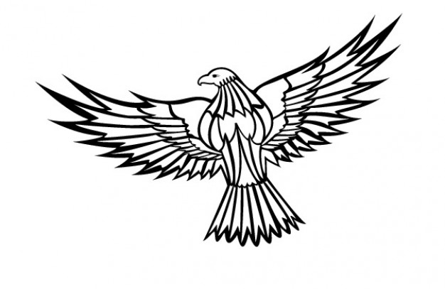 Free flying eagle clipart. Vector download