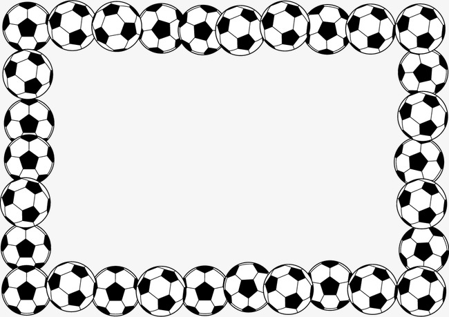 Free football clipart frames. Download png black and