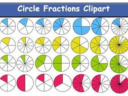 Free fraction clipart for teachers. Circle