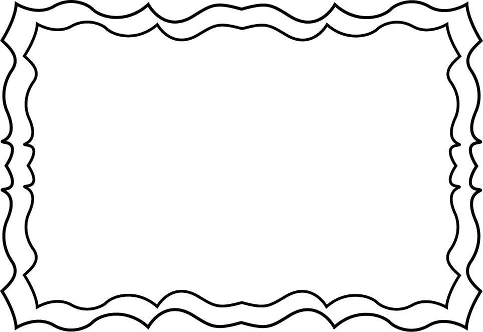 Free frame clipart book png royalty free stock Black and White Squiggly Frame | Backgrounds | Pinterest | Coloring ... png royalty free stock