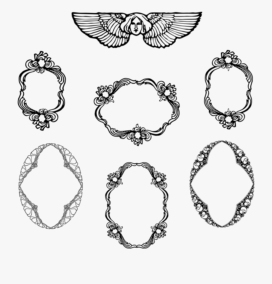 decorative vintage png. Free frame vector clipart