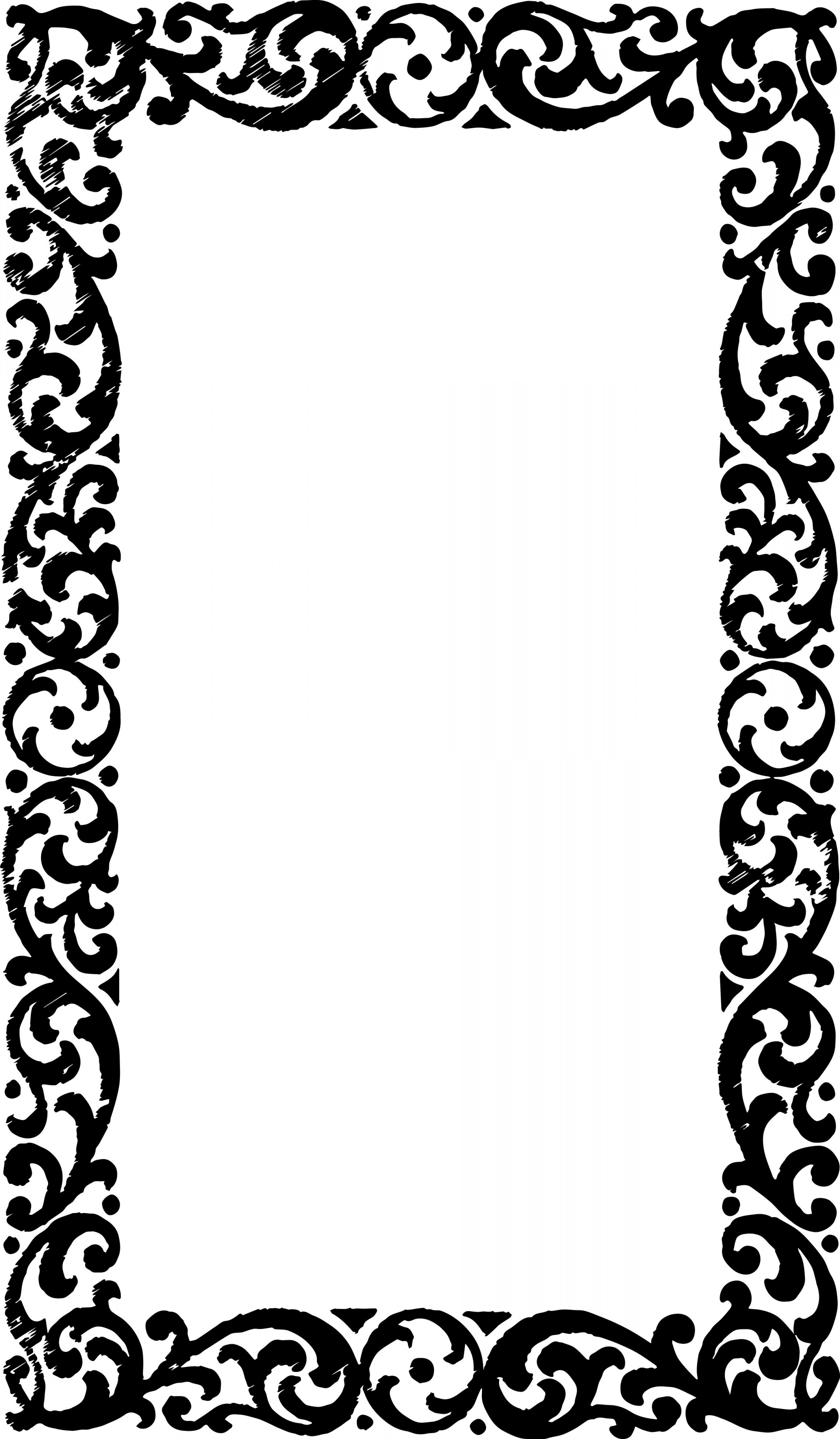 Photo frame border design clipart graphic black and white library Free Vector Art Clipart Vintage Frame Border | SOIDERGI graphic black and white library