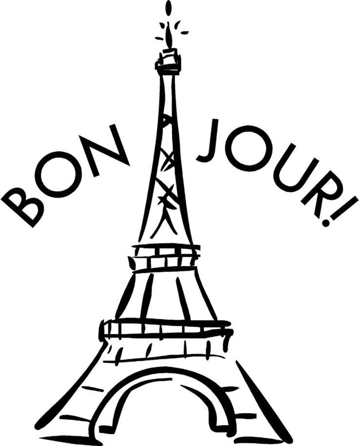 Bonjour paris clipart black and white stock French Clipart Free | Free download best French Clipart Free on ... black and white stock
