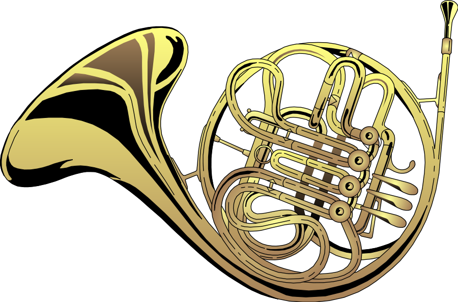 Free french horn clipart black and white Free Horn Cliparts, Download Free Clip Art, Free Clip Art on Clipart ... black and white