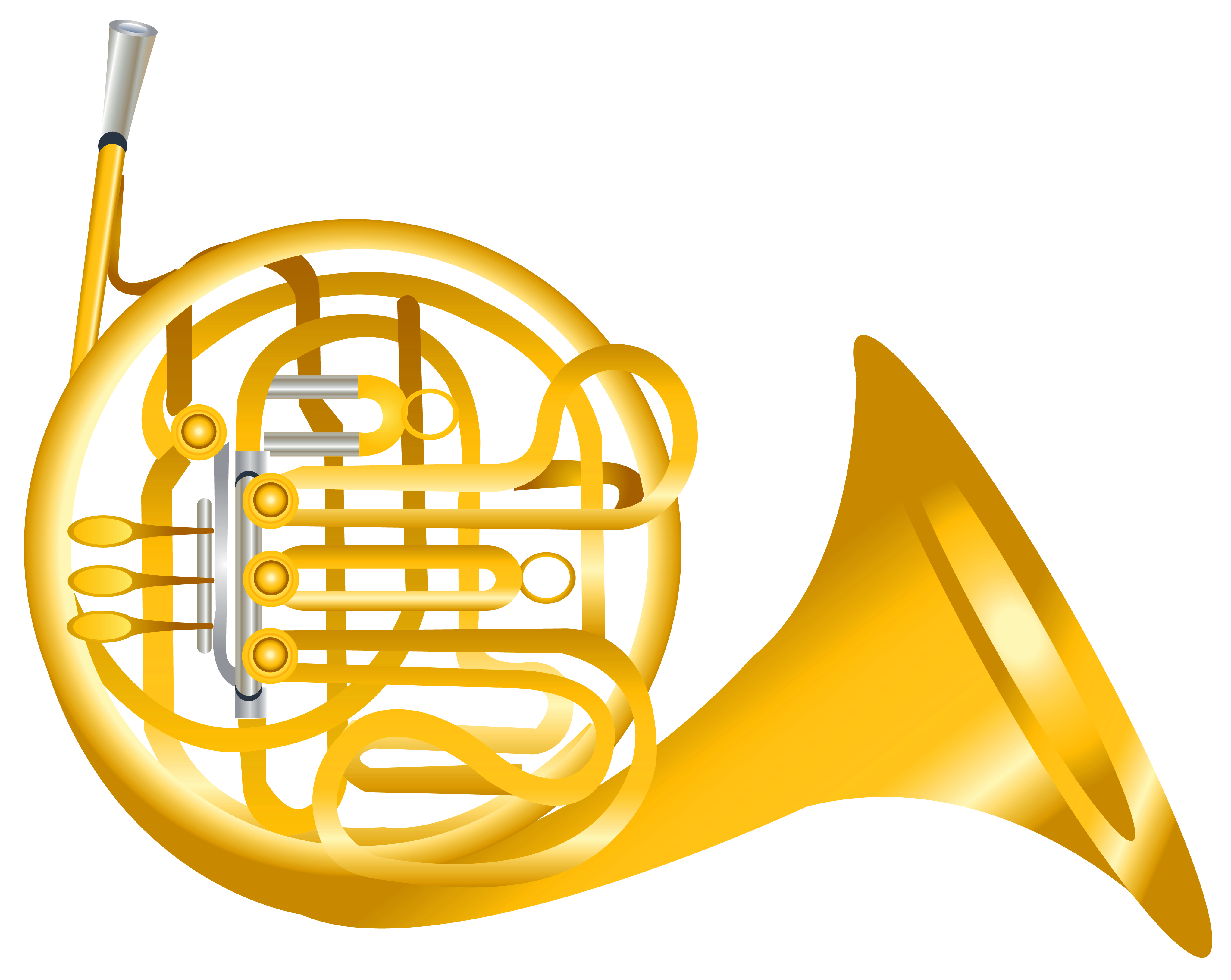 Free french horn clipart clipart transparent download French Horn Transparent PNG Clipart | Gallery Yopriceville - High ... clipart transparent download