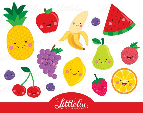 Free fruit clipart png freeuse stock Fruit clipart - Cute fruit clipart - 15064 | Products | Fruit ... png freeuse stock