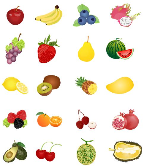 Free fruit clipart picture royalty free library Clip art fruit clipart image 3 - ClipartBarn picture royalty free library