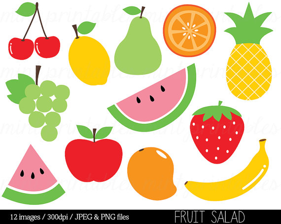 Free fruit clipart images vector free stock Fruit Clipart Clip Art, Fruit Salad, Watermelon, Pineapple, Apple ... vector free stock