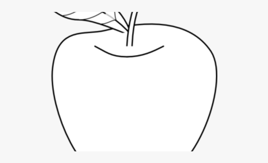 Apple fruit colouring outline. Free fruits in bag clipart black and white