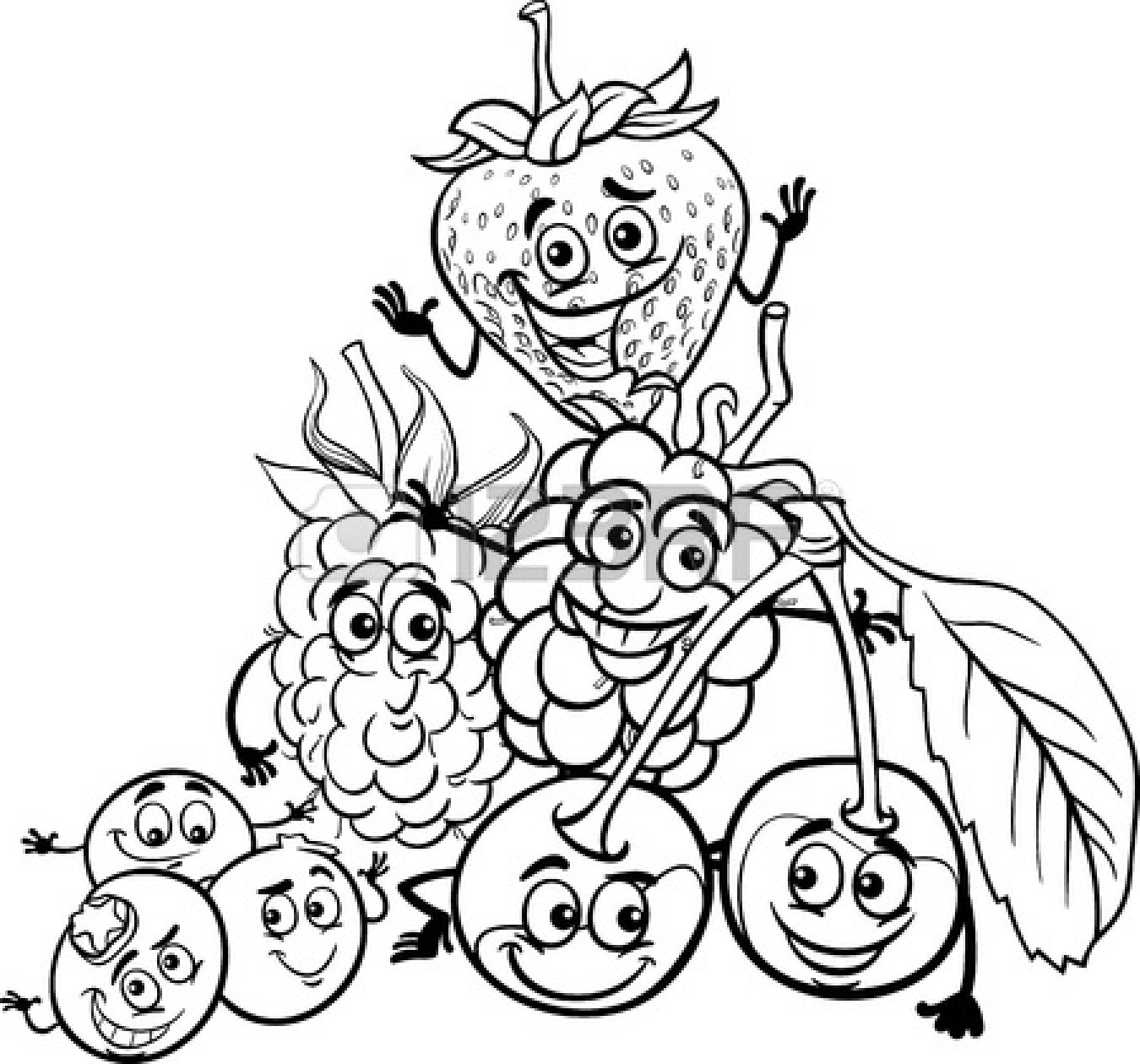 Food download best . Free fruits in bag clipart black and white