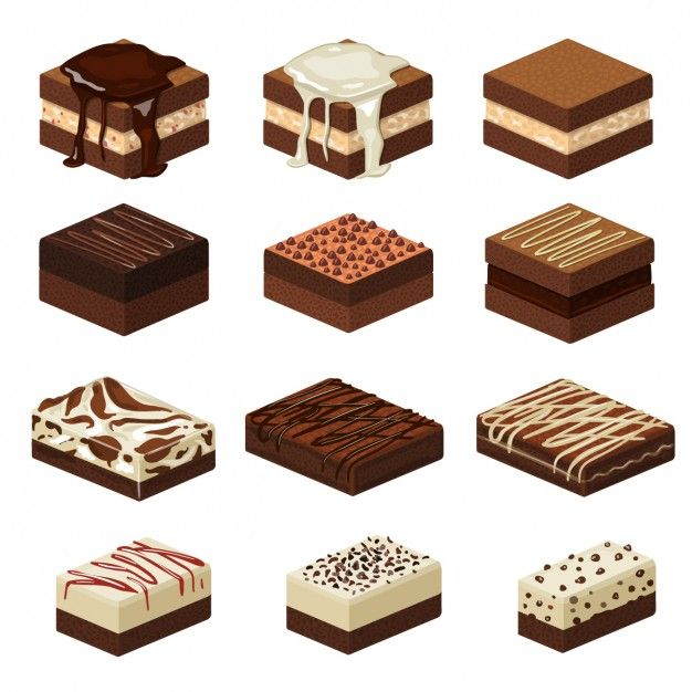Free fudge clipart picture black and white library Small cakes Free Vector chocolate, dessert, illustration, cartoon ... picture black and white library