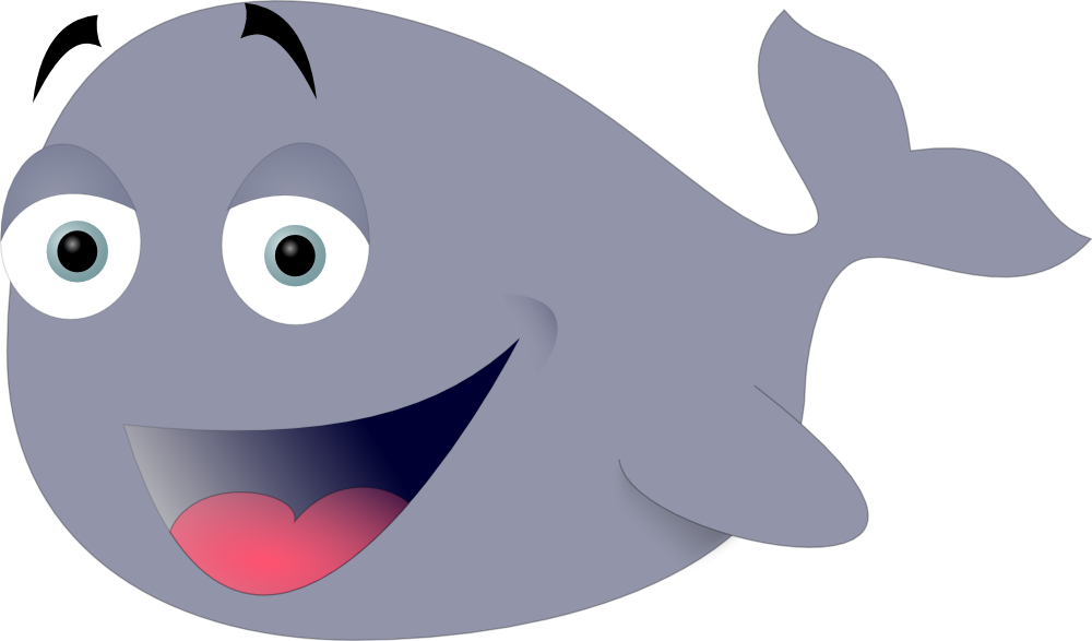 Free funny fish clipart svg library download OnlineLabels Clip Art - Funny Whale svg library download