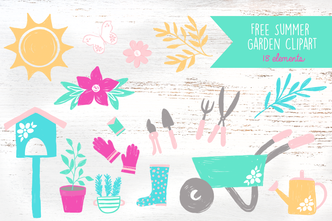 Free garden clipart graphics graphic free Free Summer Garden Clipart Graphics + Giveaway!! - Free Pretty ... graphic free