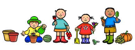 Clipart grdening vector transparent download Kids Gardening Clipart | Free download best Kids Gardening Clipart ... vector transparent download