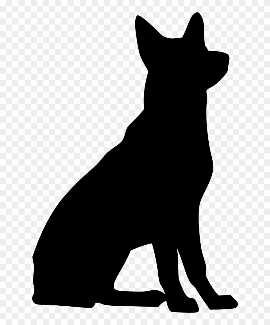 Free german shepherd silhouette clipart freeuse Svg Library Download Black German Shepherd Clipart - German Shepherd ... freeuse