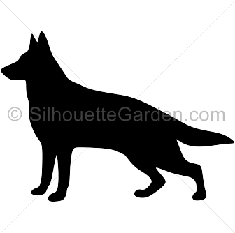 Free german shepherd silhouette clipart graphic free Pin by Muse Printables on Silhouette Clip Art at SilhouetteGarden ... graphic free