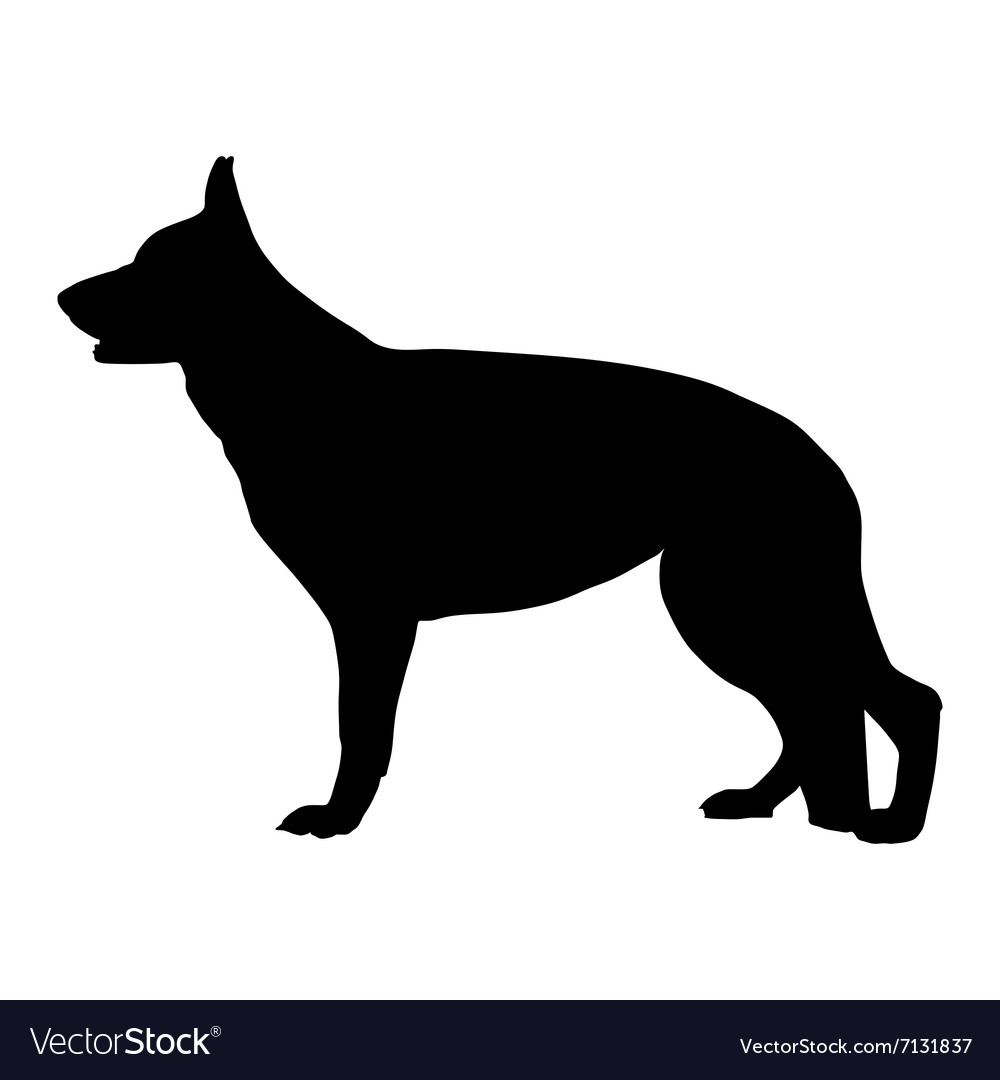 Free german shepherd silhouette clipart clip transparent library Black silhouette of German Shepherd dog clip transparent library