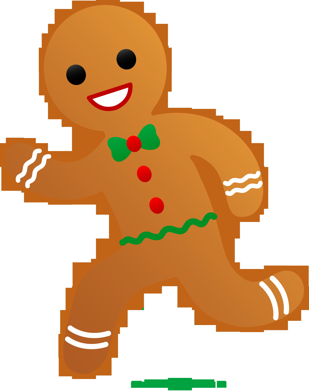 Free gingerbread men clipart vector transparent download Gingerbread Man Running Clip Art - Sweet Clip Art | Classroom door ... vector transparent download