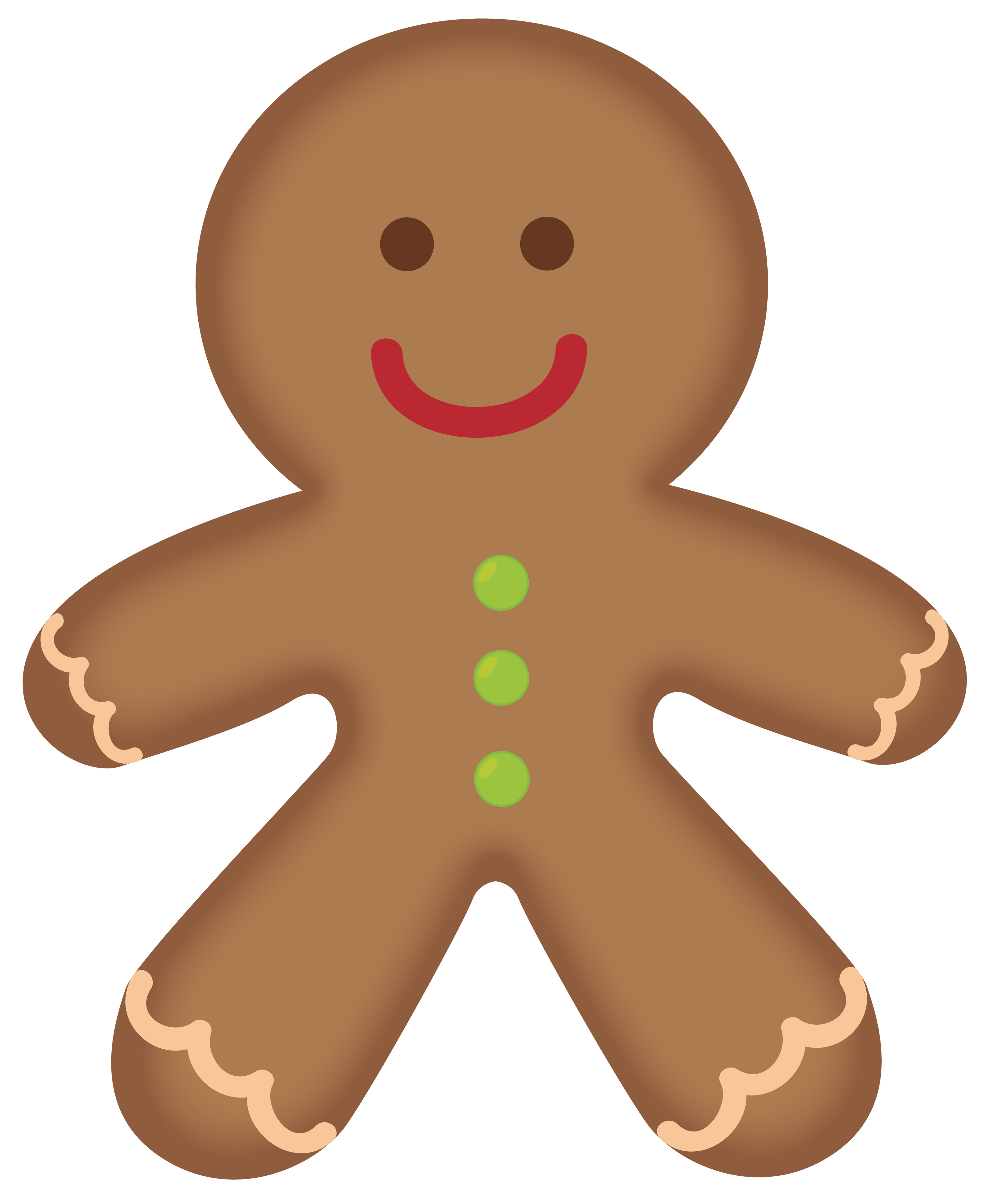 Free gingerbread men clipart
