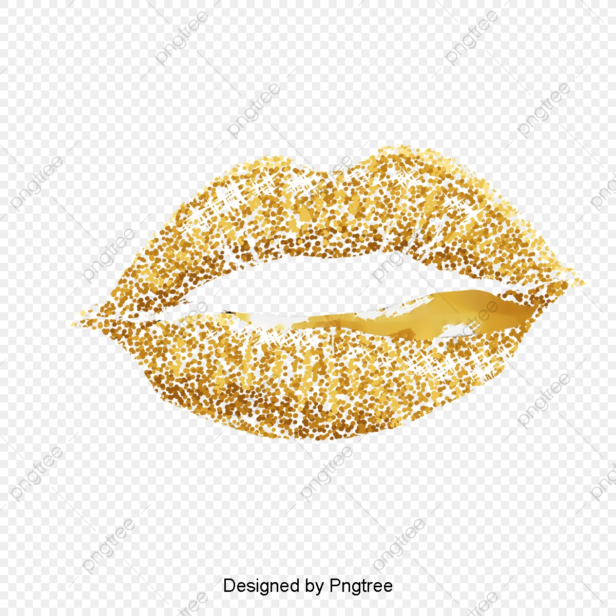 Gold lips clipart clip art black and white stock Gold Lips Vector Image, Golden, Lips, Vector Image PNG Transparent ... clip art black and white stock