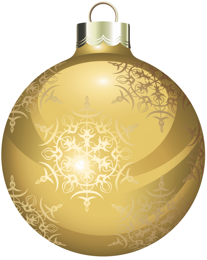 Snowflake gold free clipart royalty free Transparent Gold Christmas Ball Clipart | Gallery Yopriceville ... royalty free
