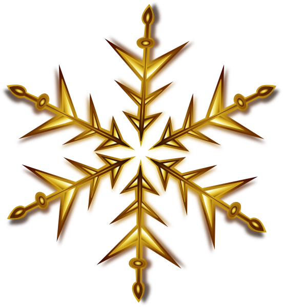 Snowflake gold free clipart image black and white download Gold Snowflake Clip Art at Clker.com - vector clip art online ... image black and white download