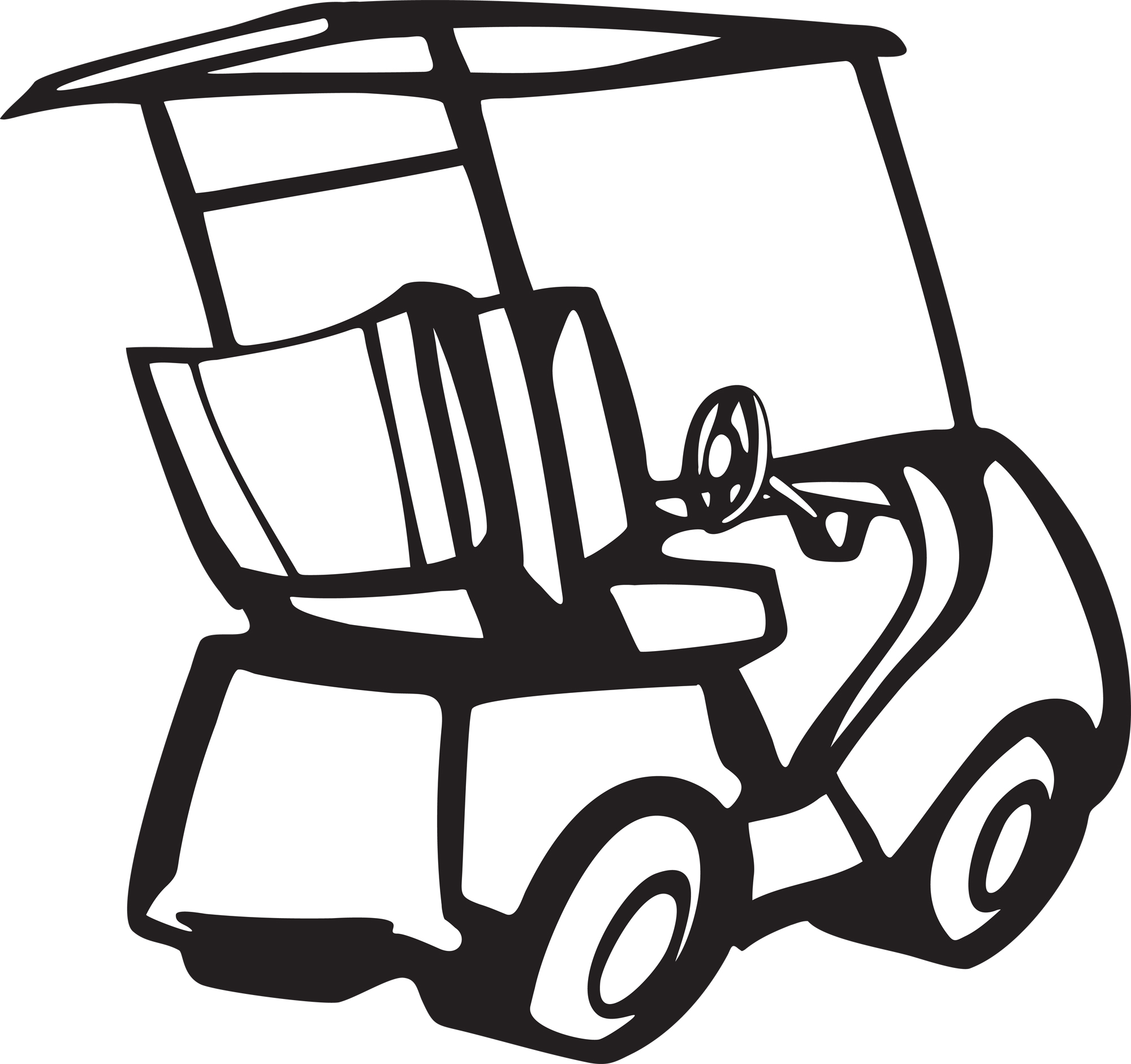 Golf cart black and white clipart free vector clip art black and white library Free Golf Cart Clipart, Download Free Clip Art, Free Clip Art on ... clip art black and white library