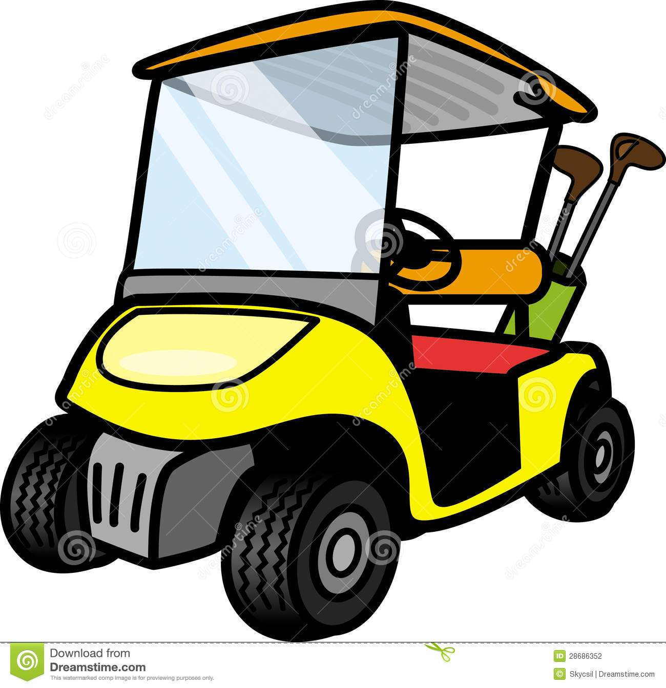 Free golf cart clipart images banner library stock Free golf cart clipart 6 » Clipart Portal banner library stock