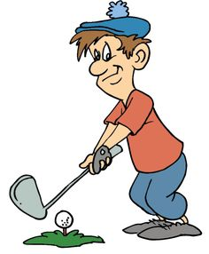 Funny golf clipart