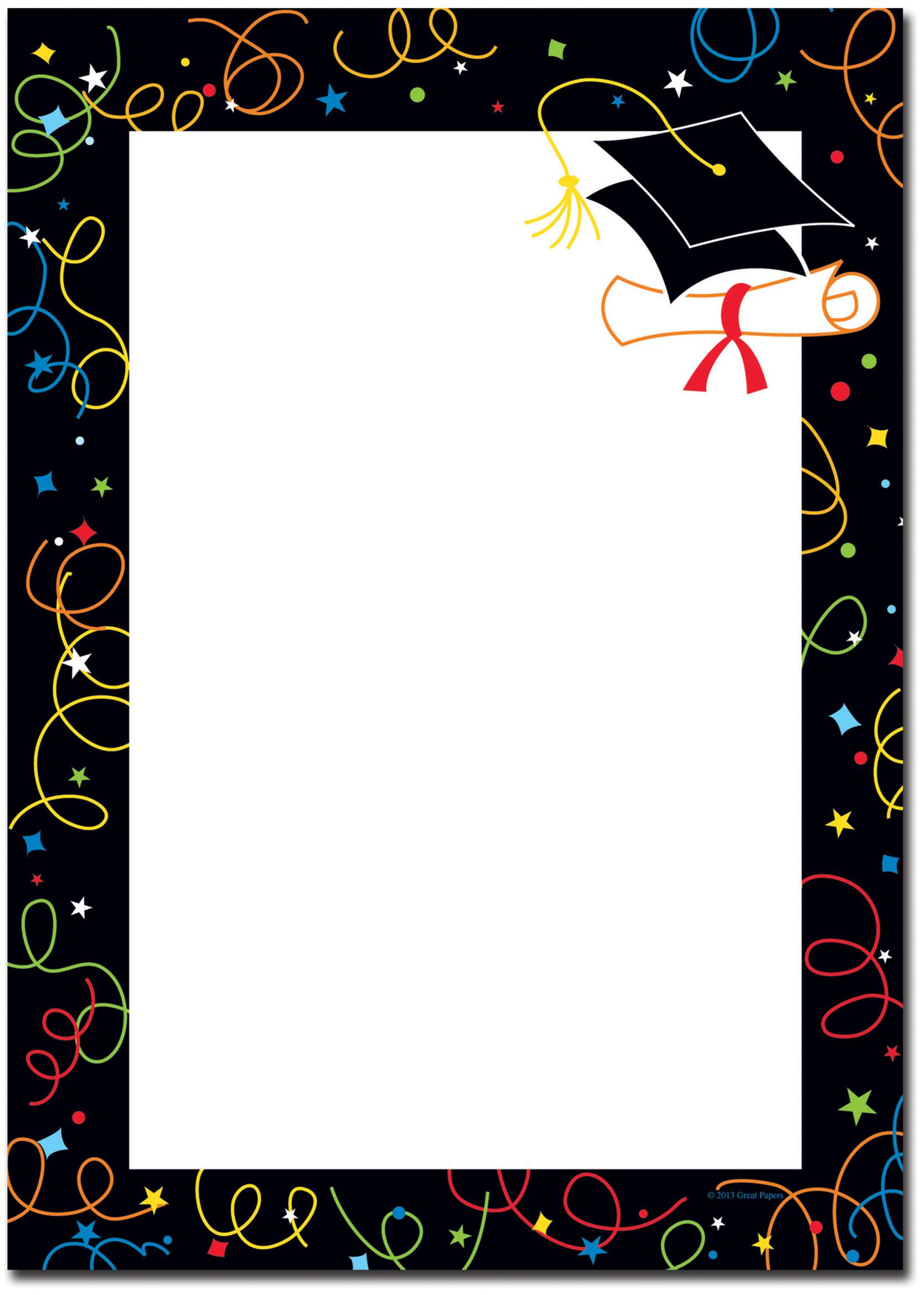 Free graduation border clipart vector black and white download Free Graduation Borders, Download Free Clip Art, Free Clip Art on ... vector black and white download