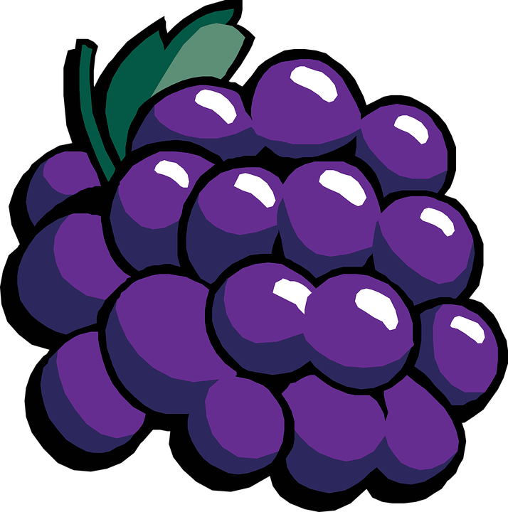 Fruits png transparent images. Free grapes clipart