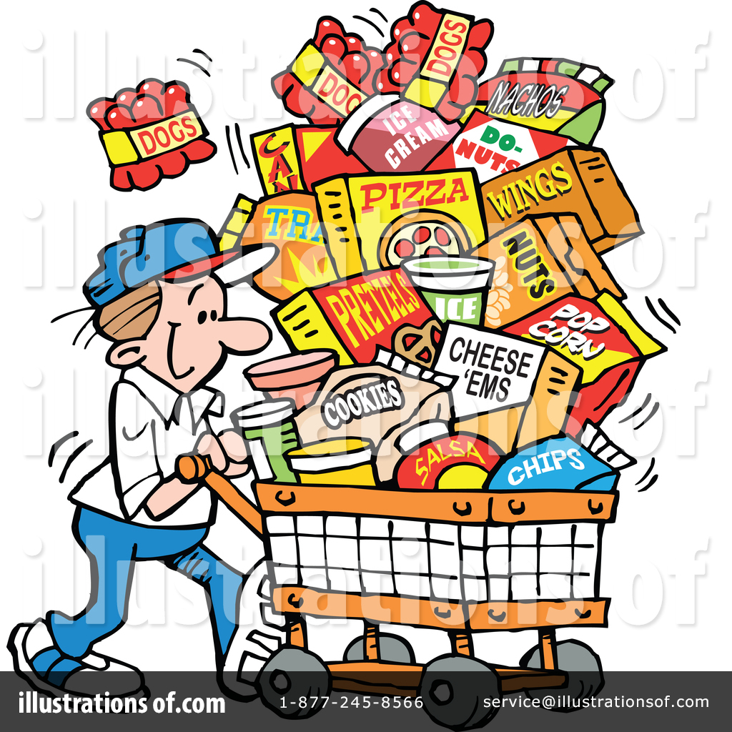Clipart groceries picture library stock Groceries Clipart #1408267 - Illustration by Johnny Sajem picture library stock