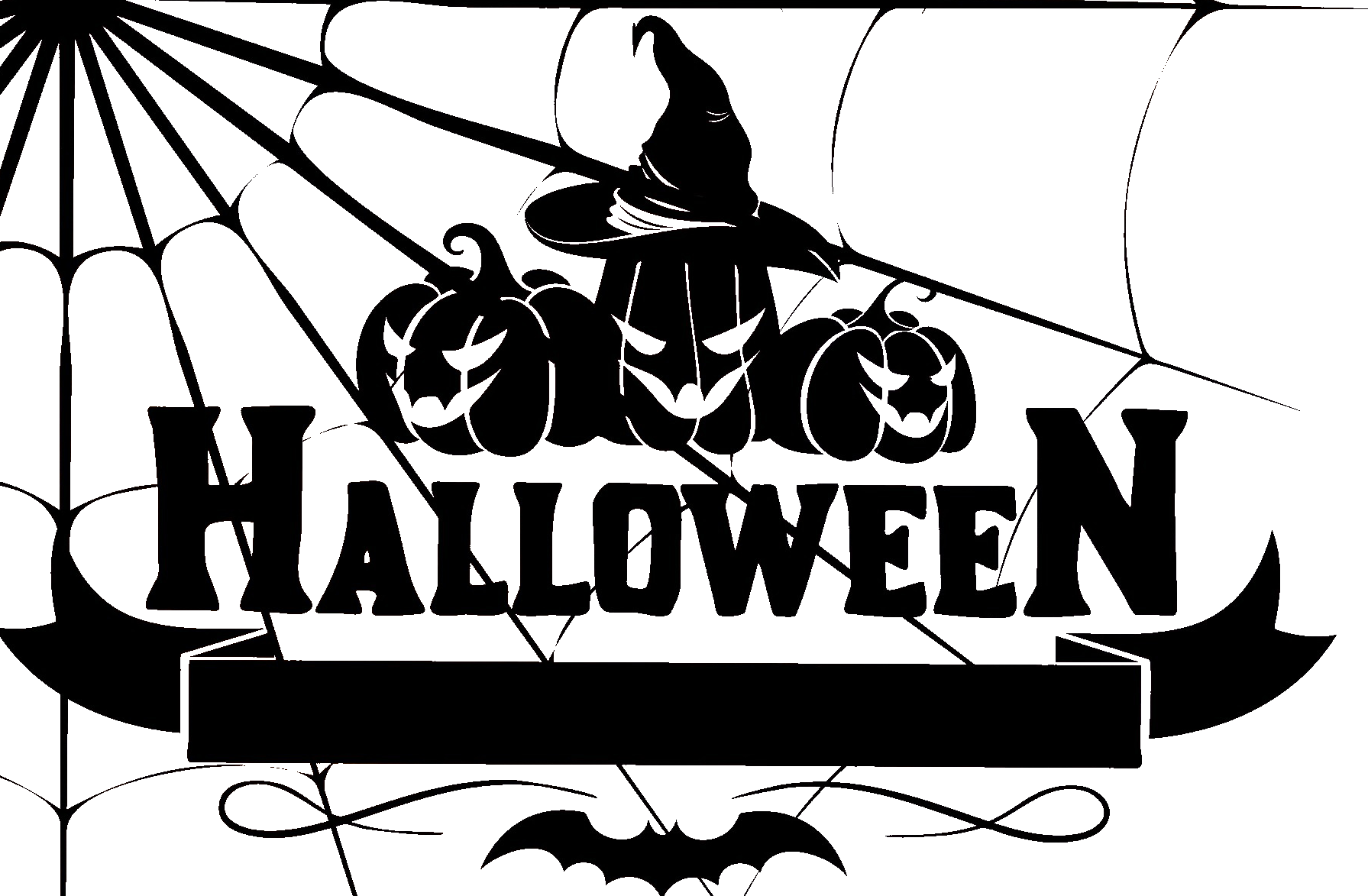 Halloween sign clipart clip art freeuse download Free Halloween Sign With Jack-o-Lanters and a Bat PNG Image clip art freeuse download