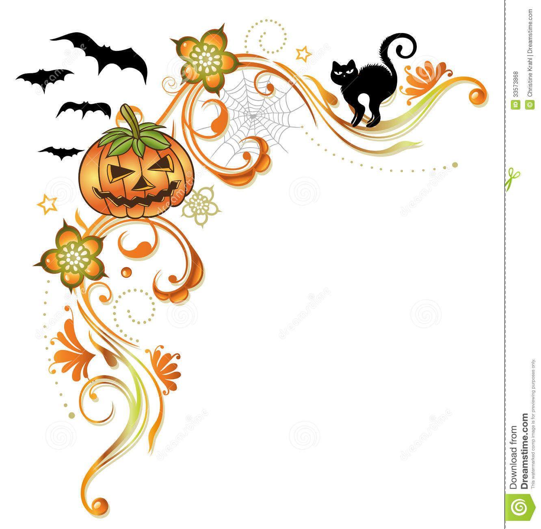 Halloween pumpkin border clipart