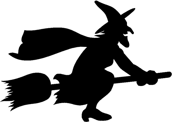 Halloween witch cat clipart picture royalty free stock Free Witch Flying Graphics - Witch Animations - Clipart picture royalty free stock
